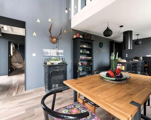 Photos et id es d co de maisons clectiques - La salle a manger atelier au style classique chez maisons du monde ...