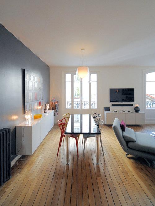 m lange de l 39 ancien et du moderne pour cette r novation. Black Bedroom Furniture Sets. Home Design Ideas