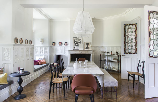 Eclectic Dining Room by d.mesure - Elodie Sire