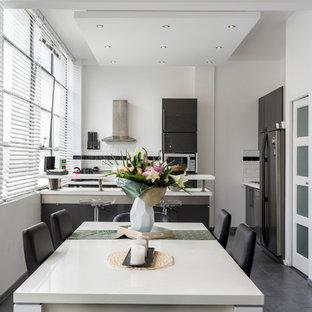 Example of an urban dining room design in Paris