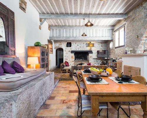 Salle manger avec un sol en carreau de terre cuite photos et id es d co d - Mitre en terre cuite pour cheminee ...