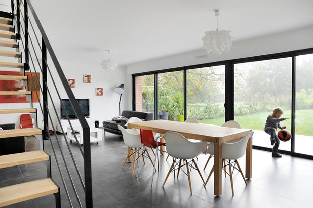 Contemporain Salle à Manger by HAPPY Architecture