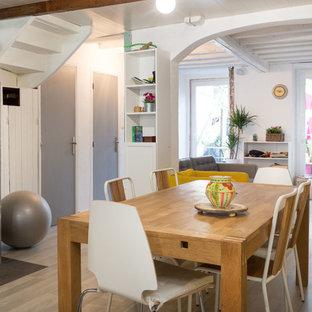 Idée de décoration pour une salle à manger champêtre.
