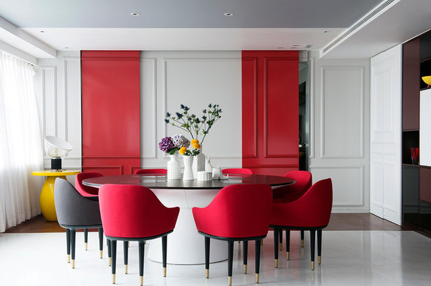 Contemporary Dining Room by philippe le berre