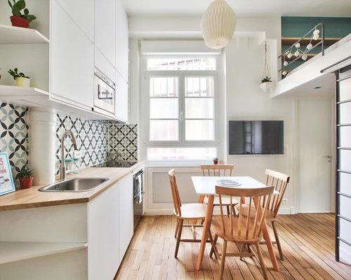 Petite salle à manger ouverte sur le salon : Photos et idées déco de ...
