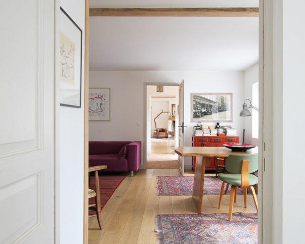 Farmhouse Home Office by A+B KASHA Designs