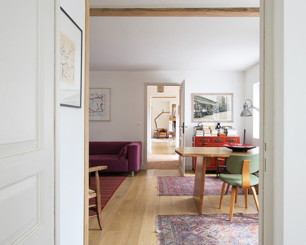 Midcentury Dining Room by A+B KASHA Designs