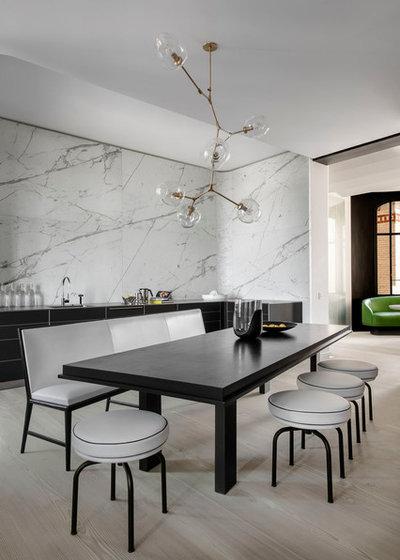 Scandinavian Dining Room by Bernard Touillon Photographe