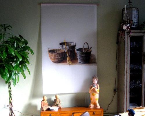 sala da pranzo con pareti verdi lione - foto, idee, arredamento - Soggiorno Pareti Verdi 2