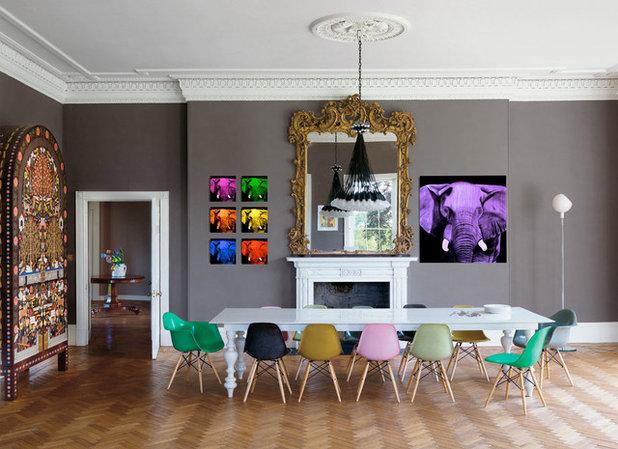 bunte stühle im esszimmer: 19 tolle beispiele, Wohnzimmer dekoo