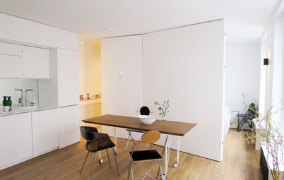 Vorher-Nachher: Ein Kosmetiksalon wird zum flexiblen Wohn-/Arbeitsraum