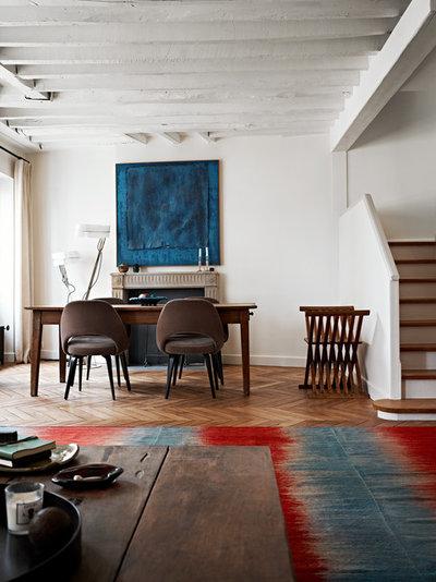 Di transizione Sala da Pranzo by A+B KASHA Designs