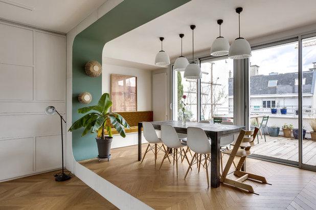 Современный Столовая by Transition Interior Design