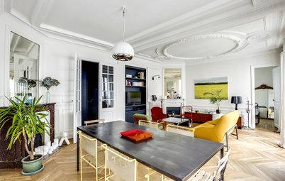 Houzzbesuch: Pariser Altbauwohnung wird modernes Midcentury-Juwel