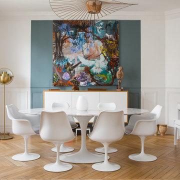 Renovation dans un appartement haussmannien de 150m² à Paris 15