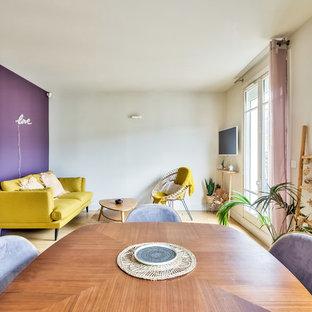 Retro Purple - Relooking d'un ancien duplex - Paris 15ème