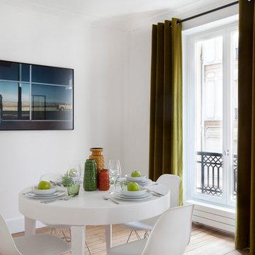 Salle à manger contemporaine - Paris 4ème, Marais, appartement de 56 m2