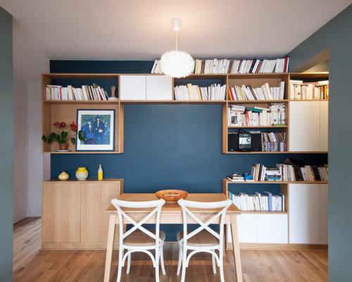 Skandinavische esszimmer mit blauen wänden   ideen, bilder ...