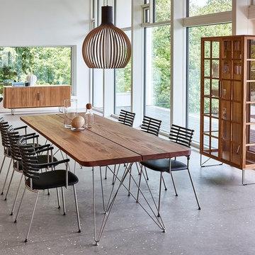 Salle à manger scandinave avec le mobilier Naver