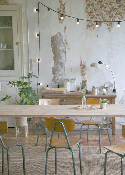 Shabby-chic Style Dining Room by les petites emplettes