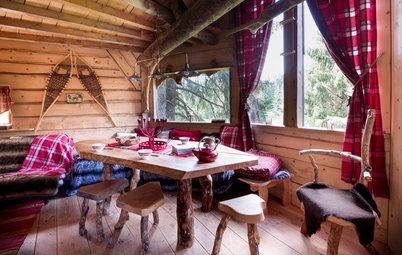 Houzzbesuch: Eine Holzhütte inmitten der französischen Alpen