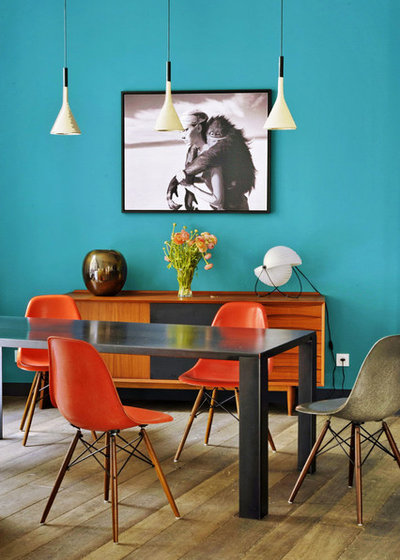Eclectic Dining Room by MOC, Maisons Objets & Chantiers