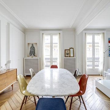 Un appartement parisien, hommage au design des années 50 et 60