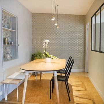 Une pièce de vie transformée dans un appartement à Nantes (44)