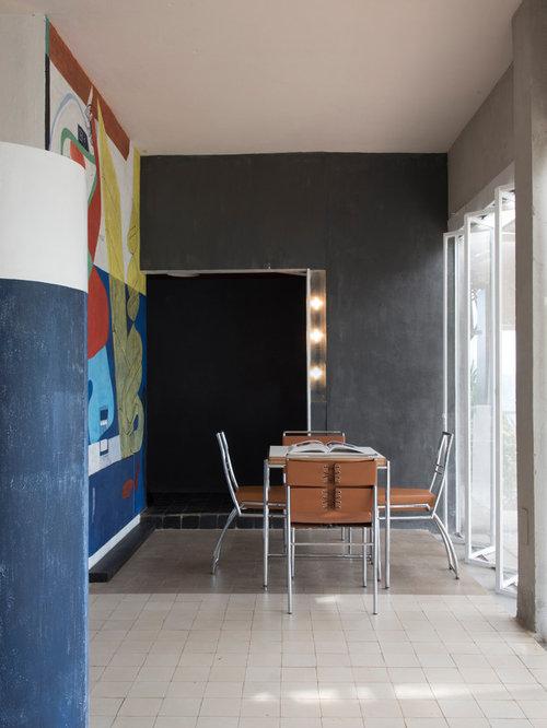 Salle  Manger Ouverte Sur Le Salon De Taille Moyenne  Photos Et