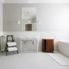 Traditional Bathroom by A+B KASHA Designs