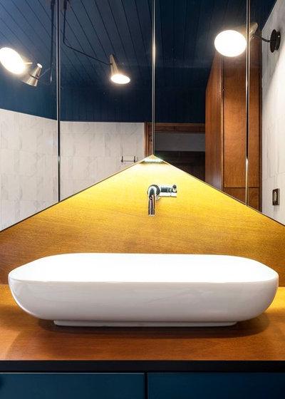 Contemporain Salle de Bain by Atelier SOFI(A) - Sophie Lallias Architecte DPLG