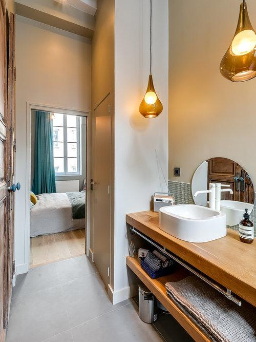 Salle de bain avec un carrelage vert : Photos et idées déco de ...