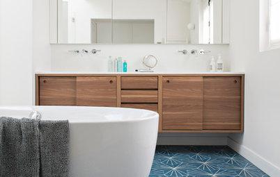 Photothèque : 50 salles de bains réchauffées grâce au bois