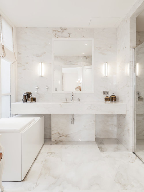 Salle de bain contemporaine photos et id es d co de - Maison moderne interieur eclectique jamie bush ...