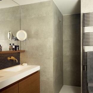 Inspiration pour une salle de bain minimaliste.