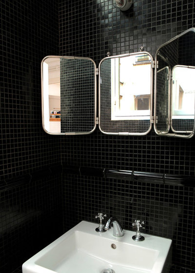 38 beautiful black and white bathrooms houzz. Black Bedroom Furniture Sets. Home Design Ideas