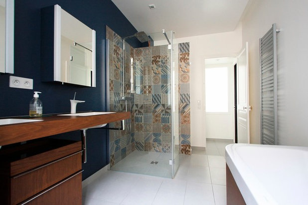 Petit budget 10 astuces pour relooker sa salle de bains - Quel sol pour une salle de bain ...
