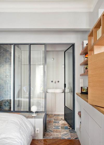 contemporaneo stanza da bagno by olivier chabaud architecte