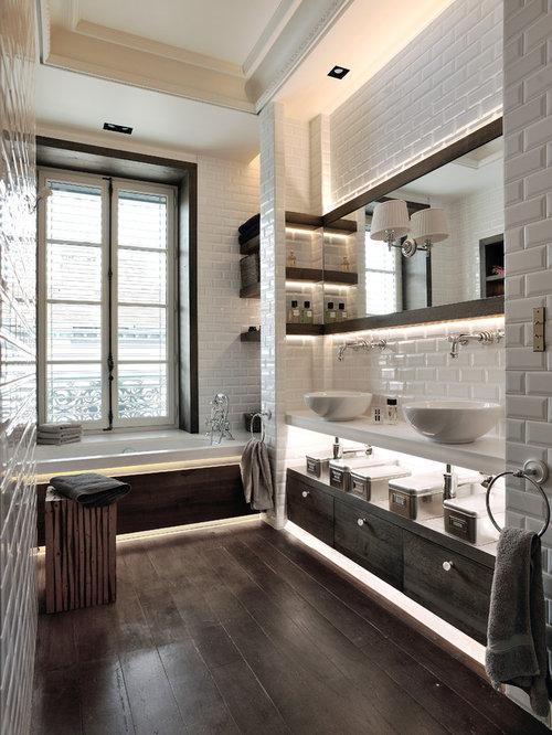 Salle de bain avec un carrelage métro : Photos et idées déco de ...