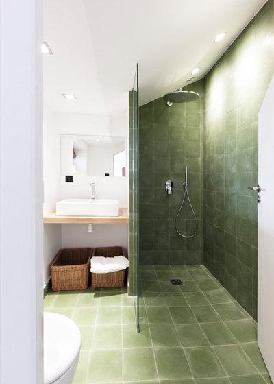 Couleur d 39 hiver le kaki remplace le gris for Salle de bain vert et noir