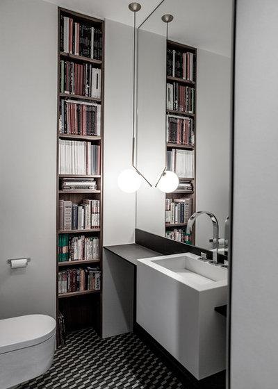Contemporaneo Stanza da Bagno Appartement_ Paris 16