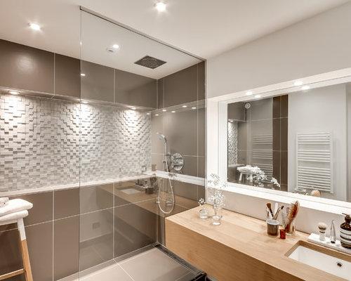 Salle de bain zen beige et blanche : Scandinavian / Bathroom Design Ideas, Remodels & Photos