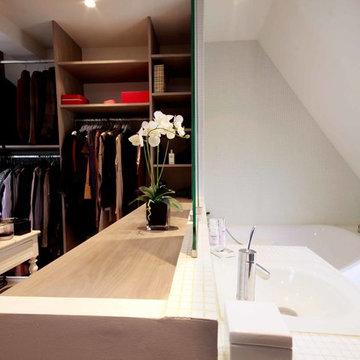 appartement parisien sous  les combles