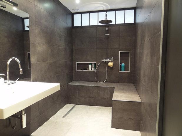 Comment am nager une assise dans la douche - Salle de bain italienne moderne ...