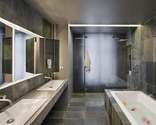 salle de bain principale contemporaine photos et id es d co de salles de bain. Black Bedroom Furniture Sets. Home Design Ideas