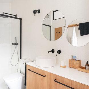 Salle de bain avec une douche à l\'italienne Rennes : Photos et idées ...