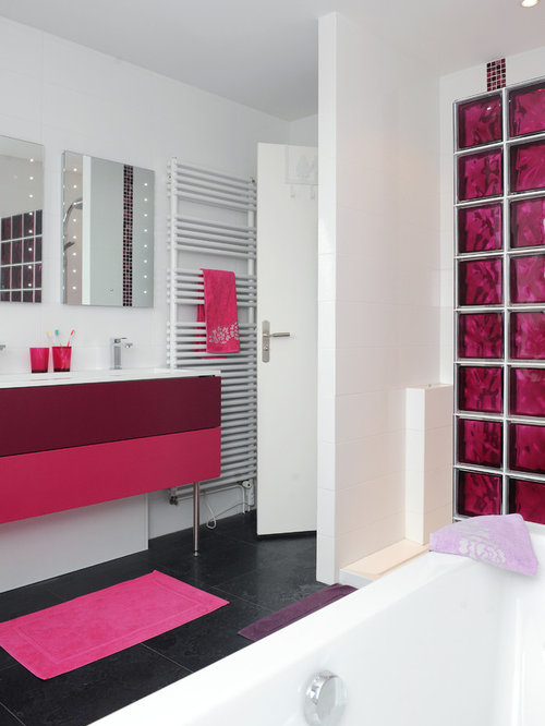 Salle de bain moderne mur de verre pictures to pin on - Mur de verre salle de bain ...