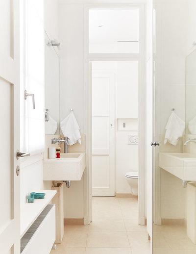 10 astuces pour optimiser les volumes d 39 une petite salle for Couleur petite salle de bain