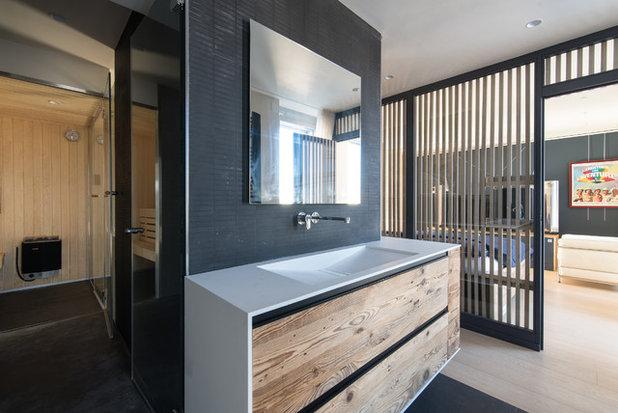 Architecture : Jeu de contrastes pour loft masculin à Boulogne