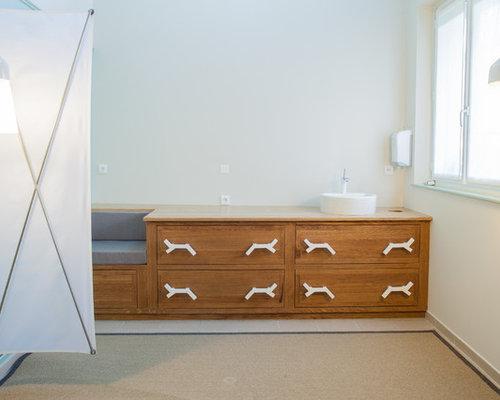 Salles de bains et wc blancs paravent photos et id es for Paravent salle de bain